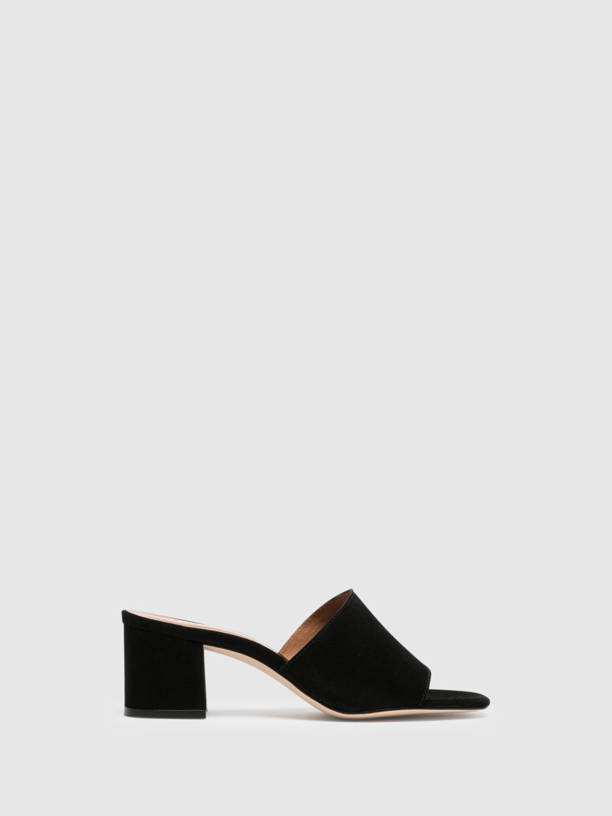 Foreva Black Open Toe Mules