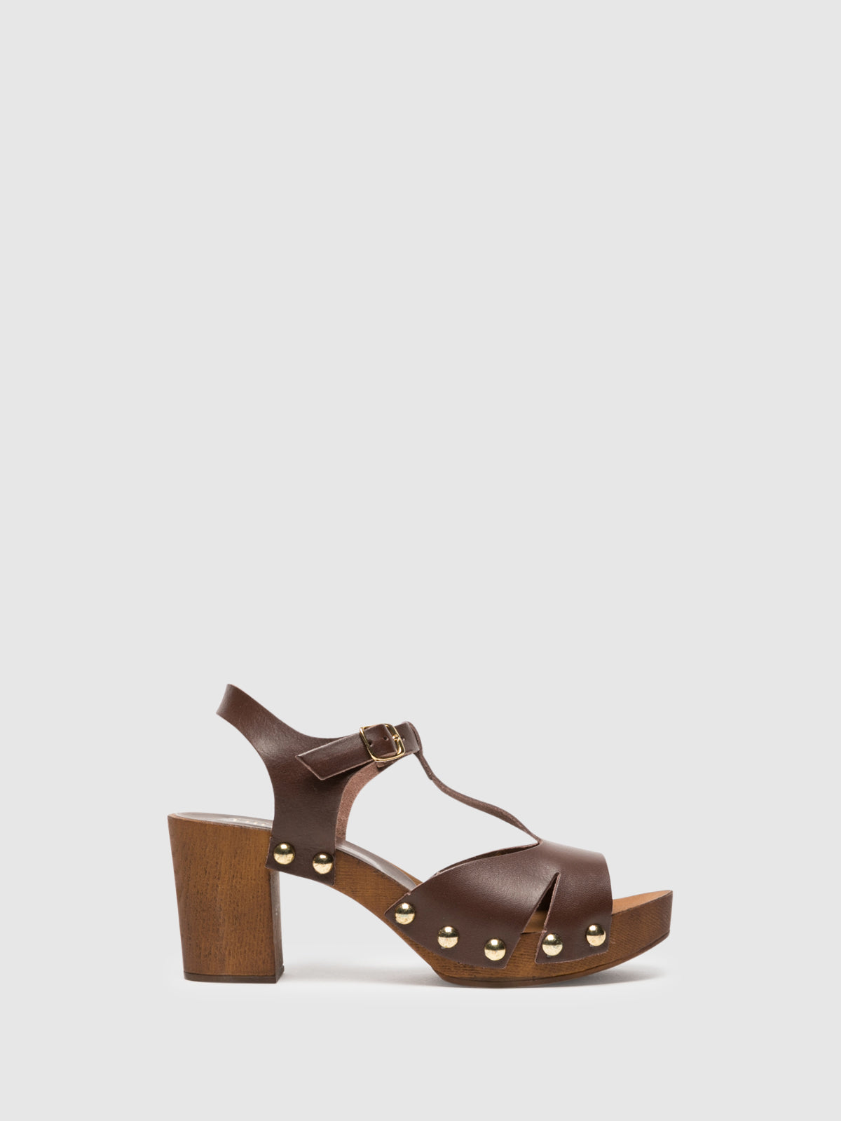 Foreva Brown T-Strap Sandals