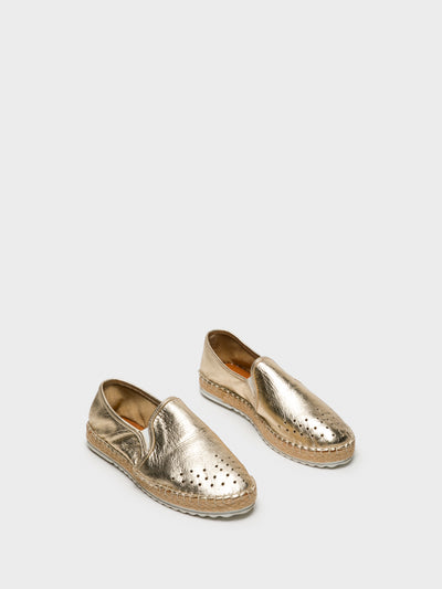 Foreva Gold Elasticated Espadrilles