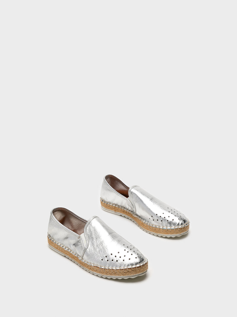 Silver Elasticated Espadrilles