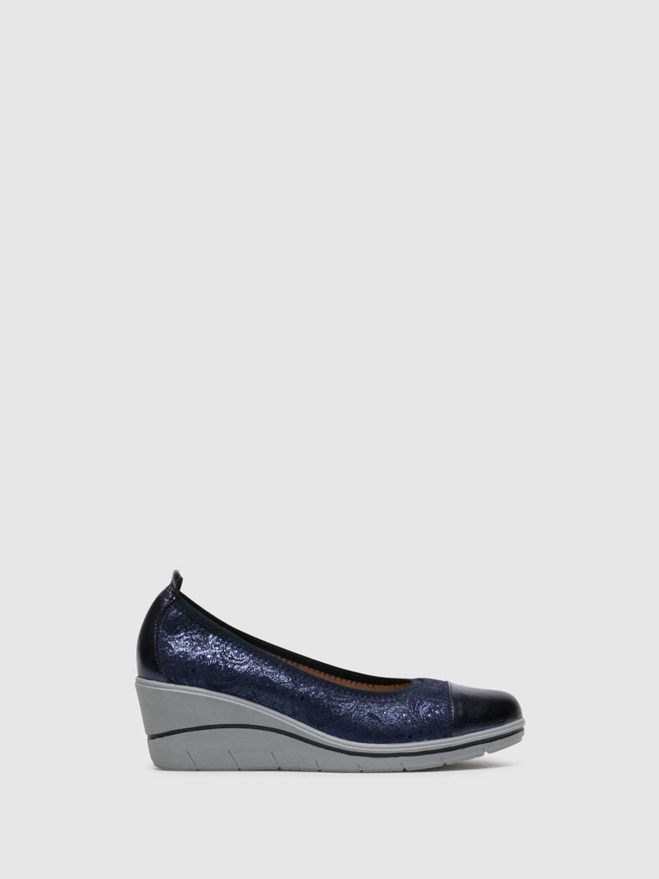 Foreva Blue Wedge Ballerinas