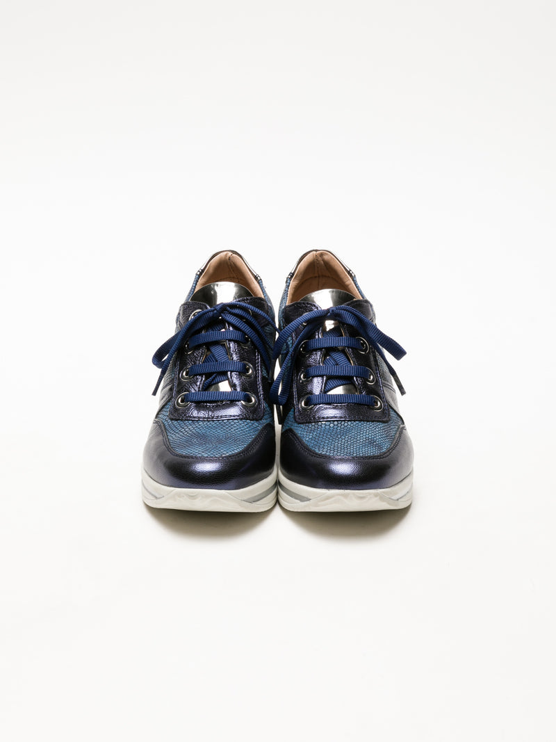 Blue Wedge Trainers