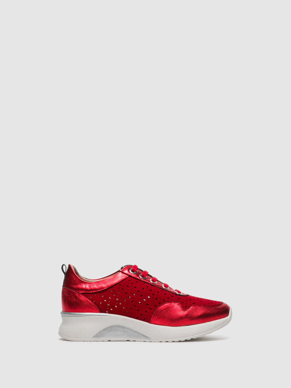 Foreva Red Lace-up Trainers