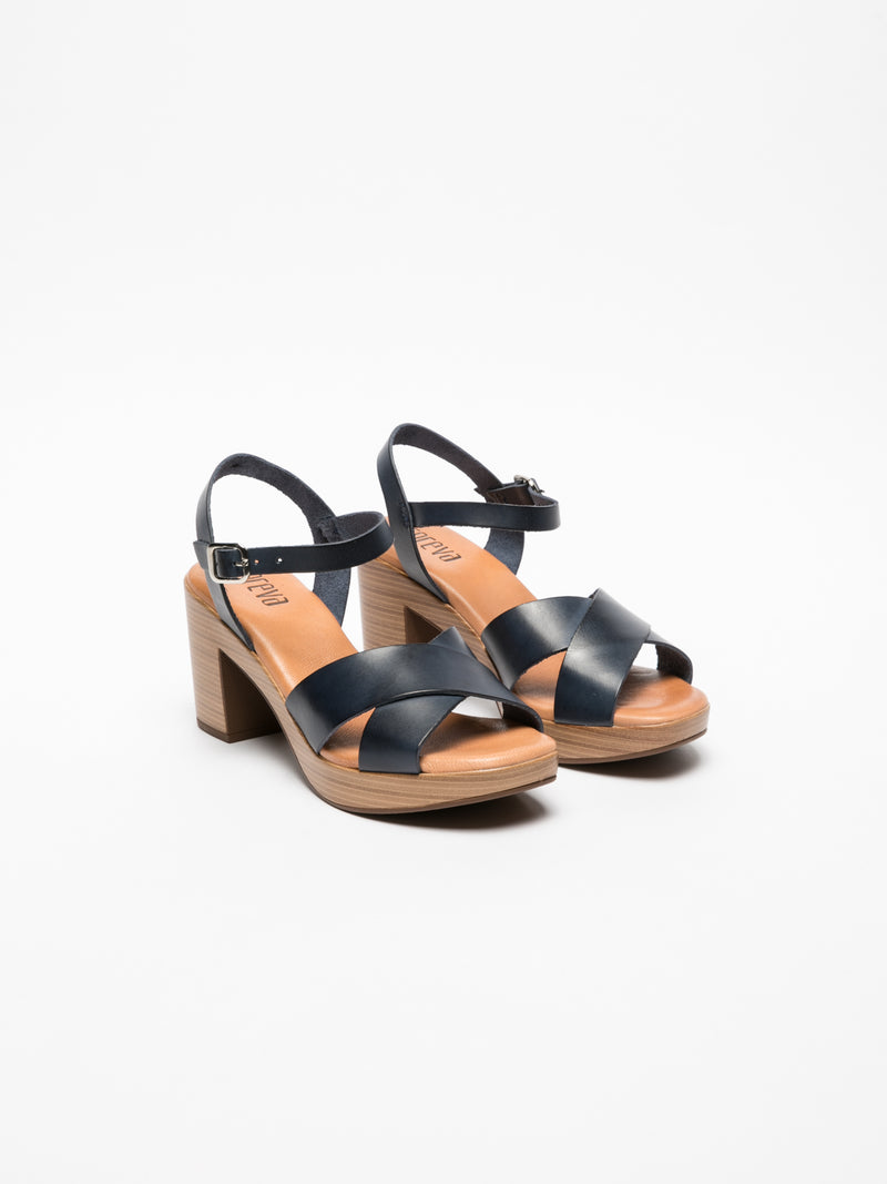 Foreva Blue Sling-Back Sandals