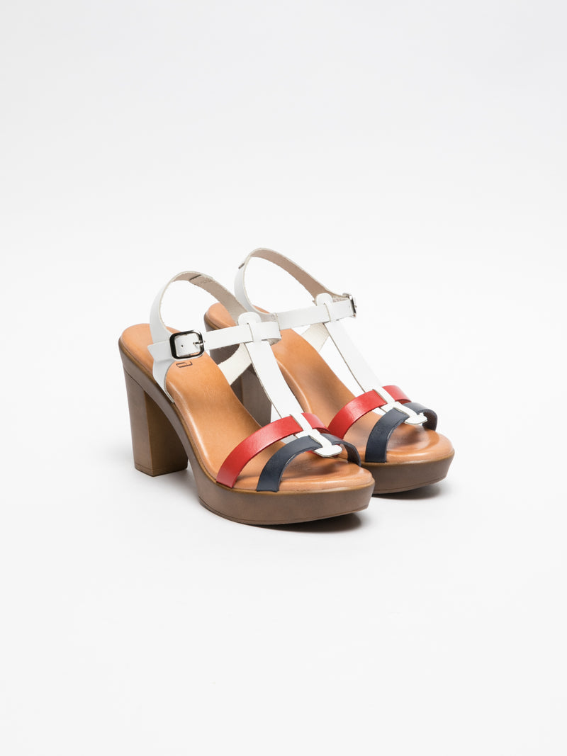 Multicolor Platform Sandals