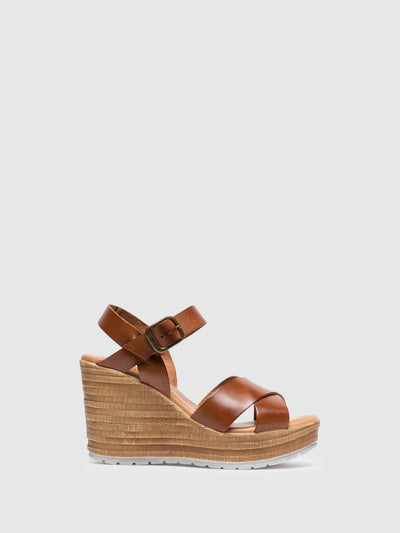 Foreva Brown Wedge Sandals