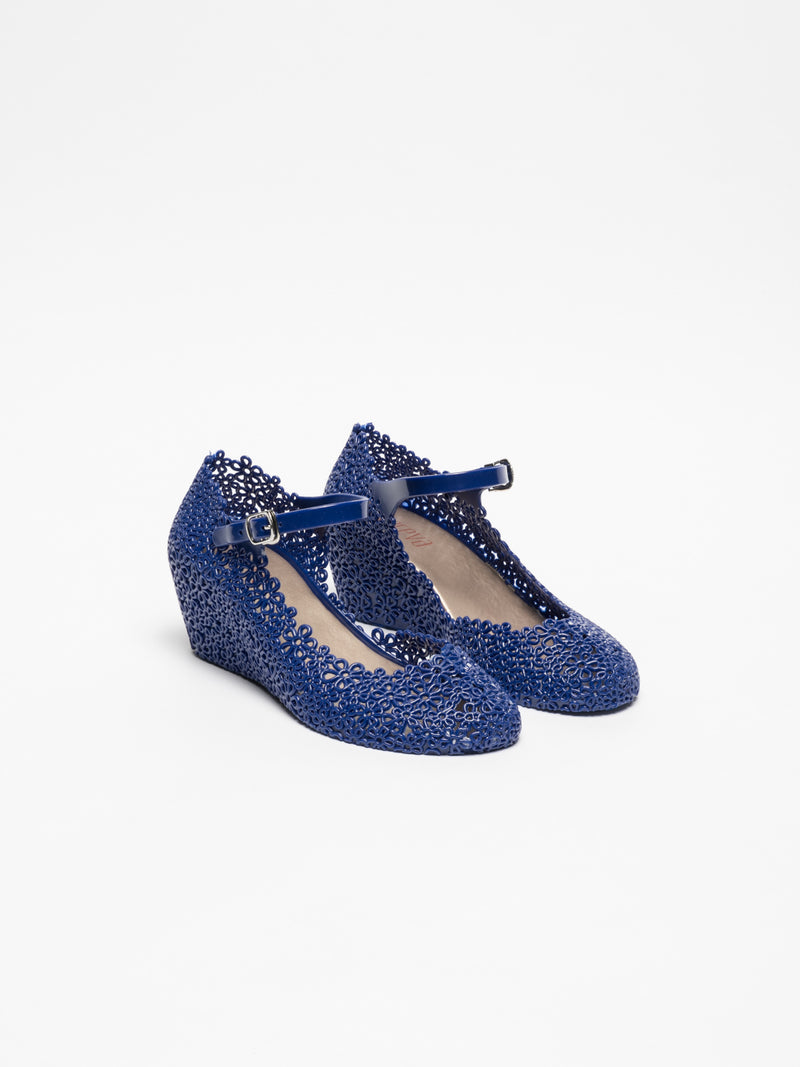 Foreva Blue Platform Shoes