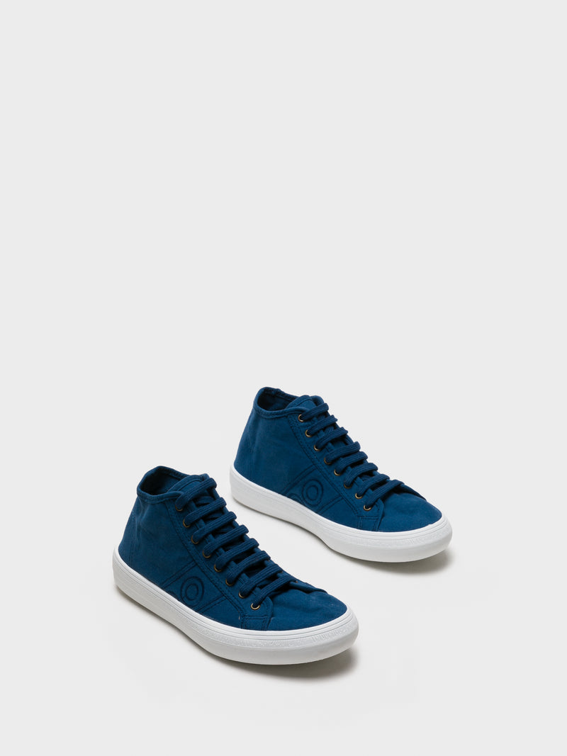 Foreva Blue Hi-Top Trainers