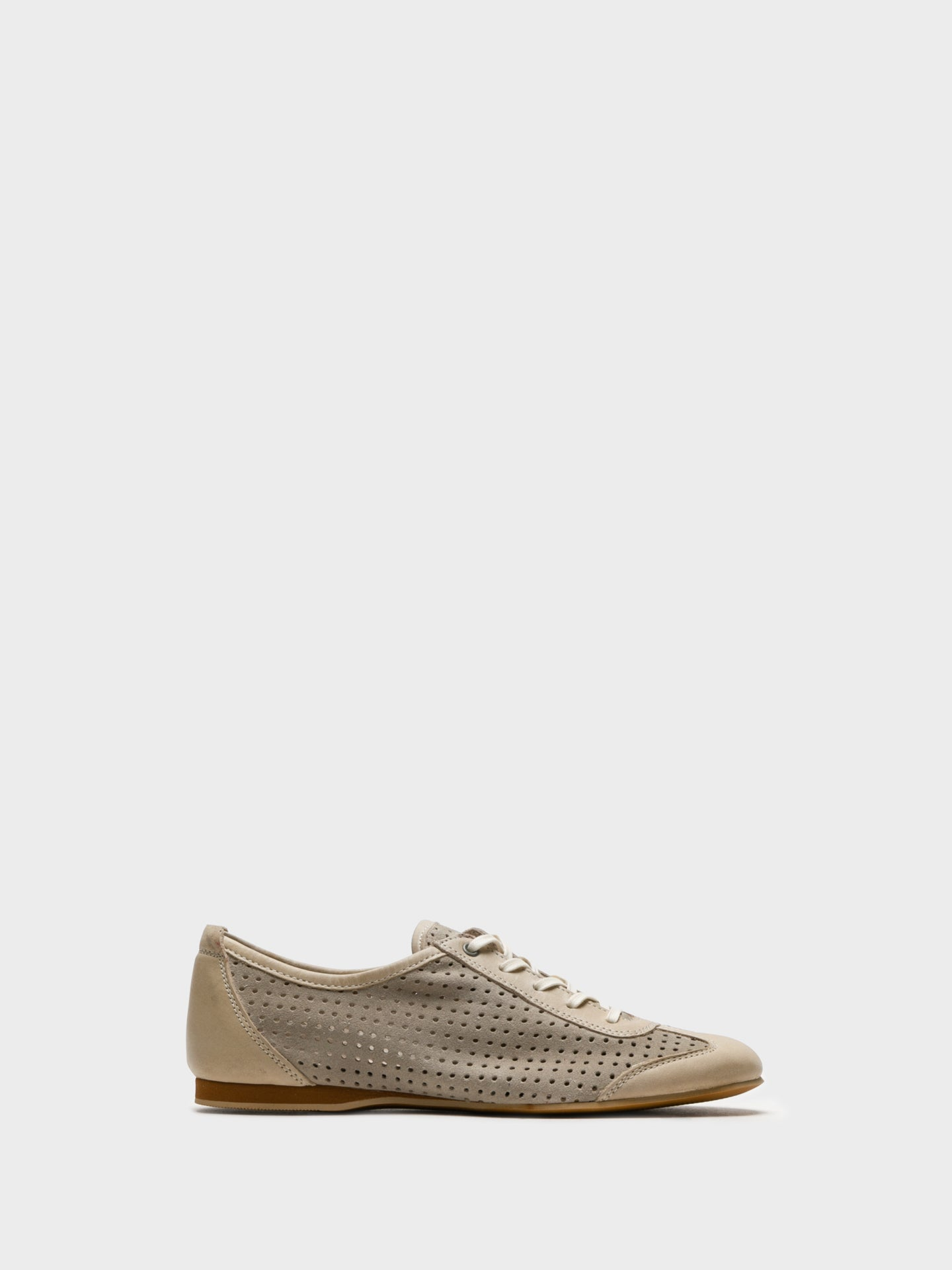 Foreva Beige Lace Fastening Shoes