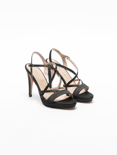 Foreva Black Strappy Sandals