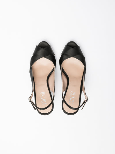 Foreva Black Sling-Back Sandals