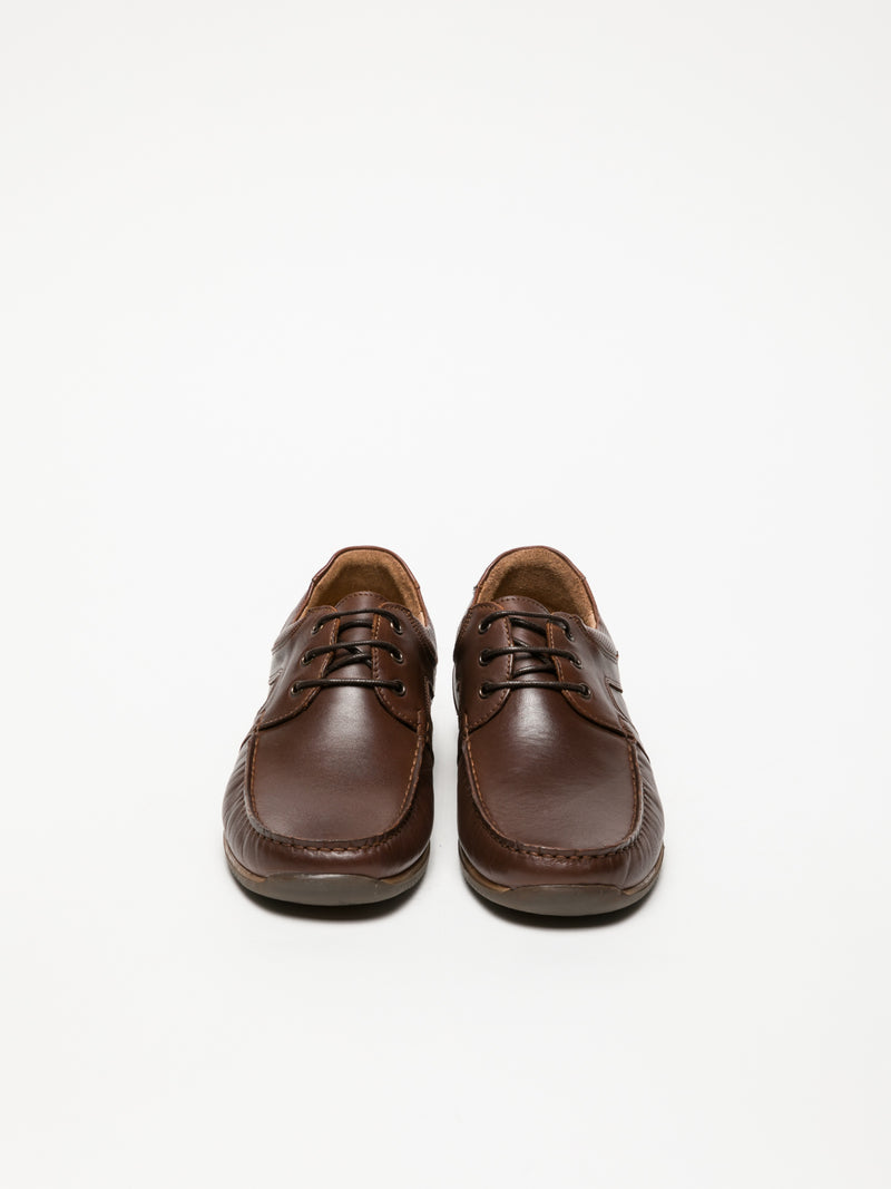 Foreva Brown Lace Fastening Shoes