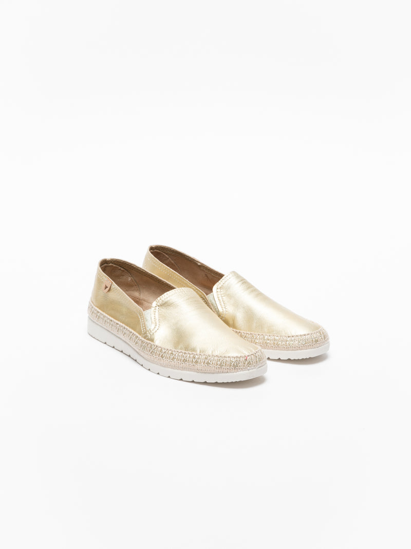 Gold Elasticated Espadrilles