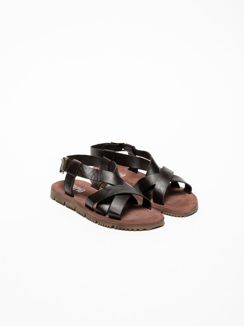 Foreva Brown Strappy Sandals