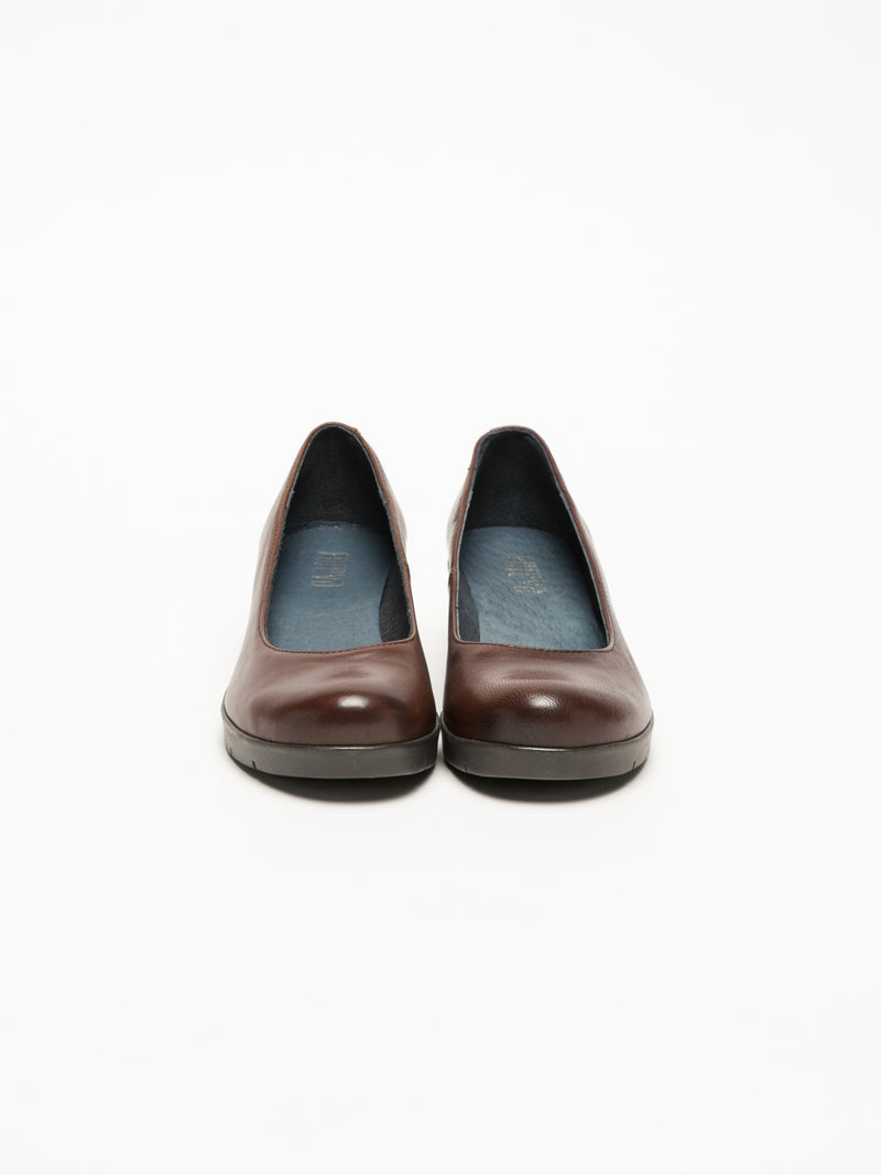 Brown Wedge Ballerinas