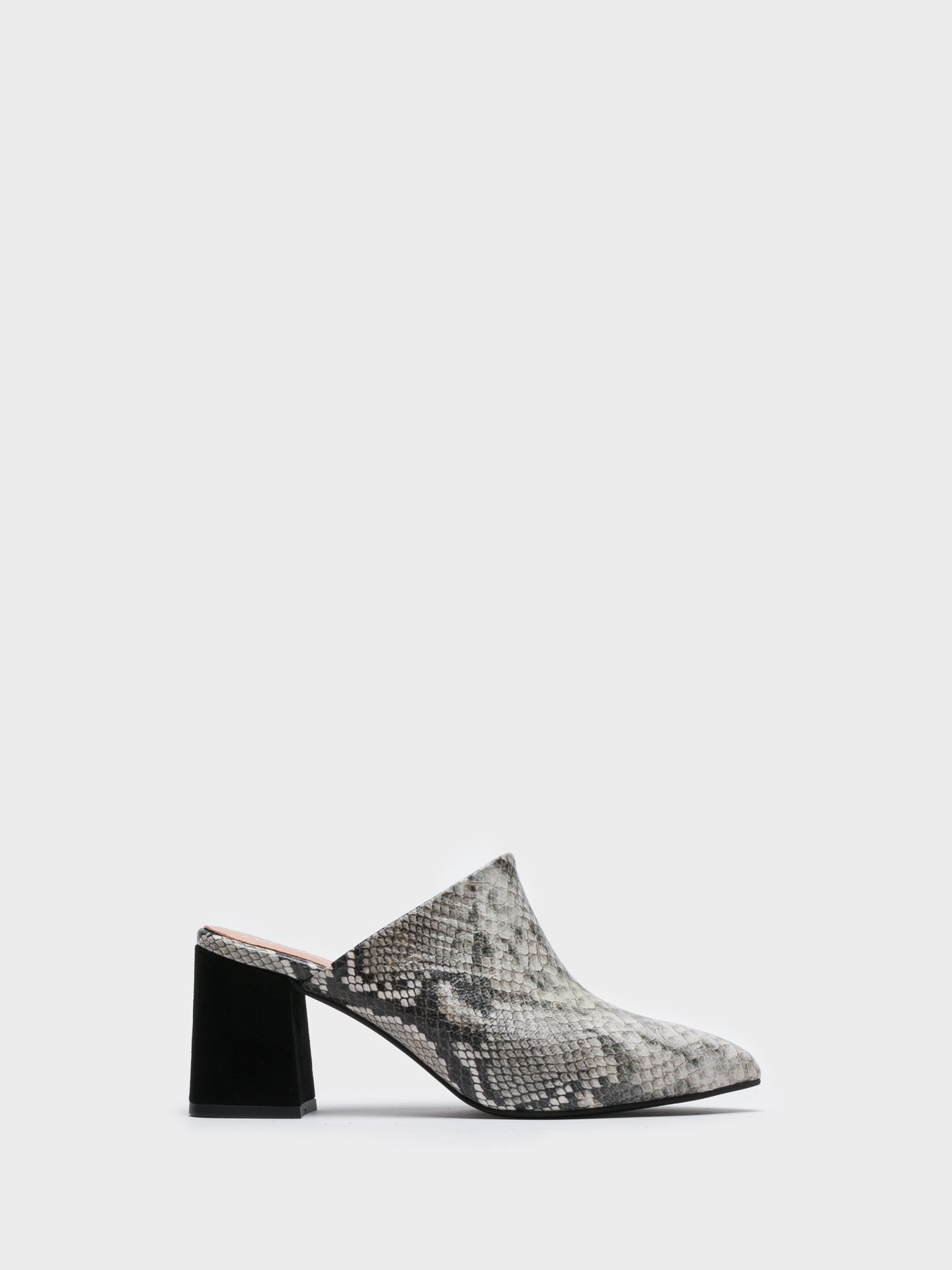 Foreva Gray Pointed Toe Mules