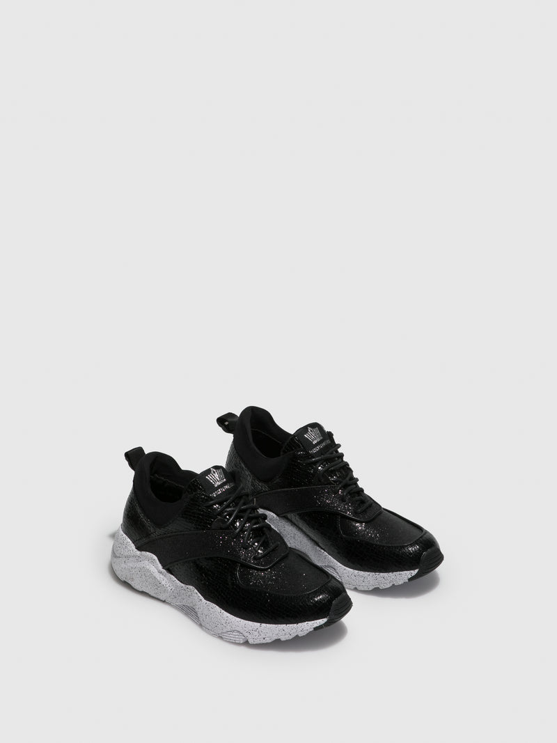 FRANCESCO MILANO Black Lace-up Trainers