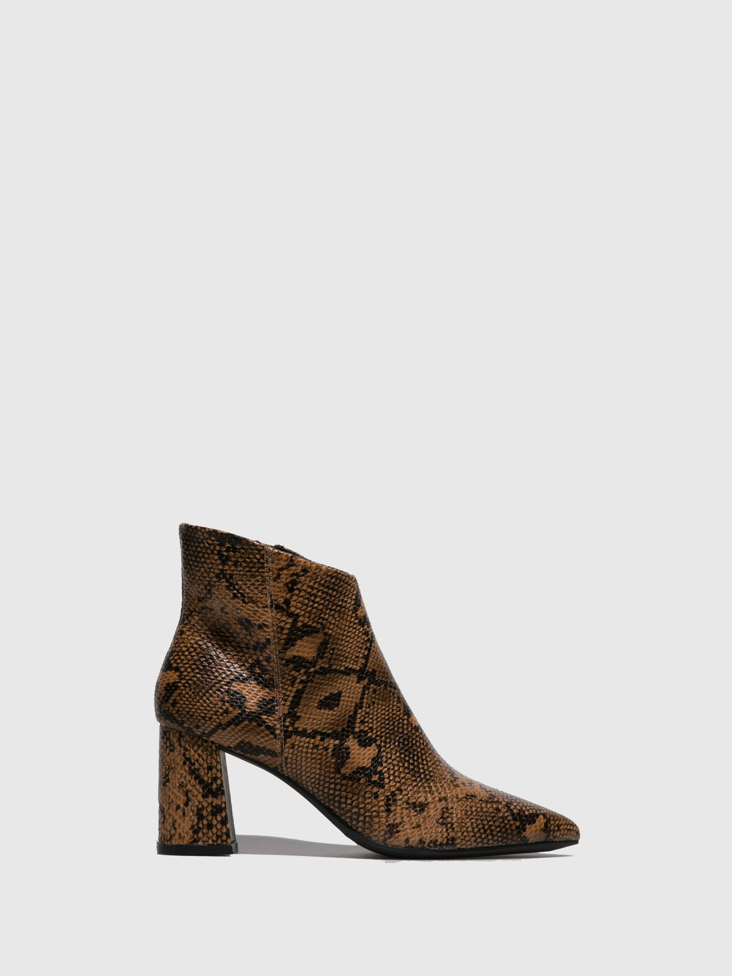 Francesco Milano Brown Pointed Toe Ankle Boots