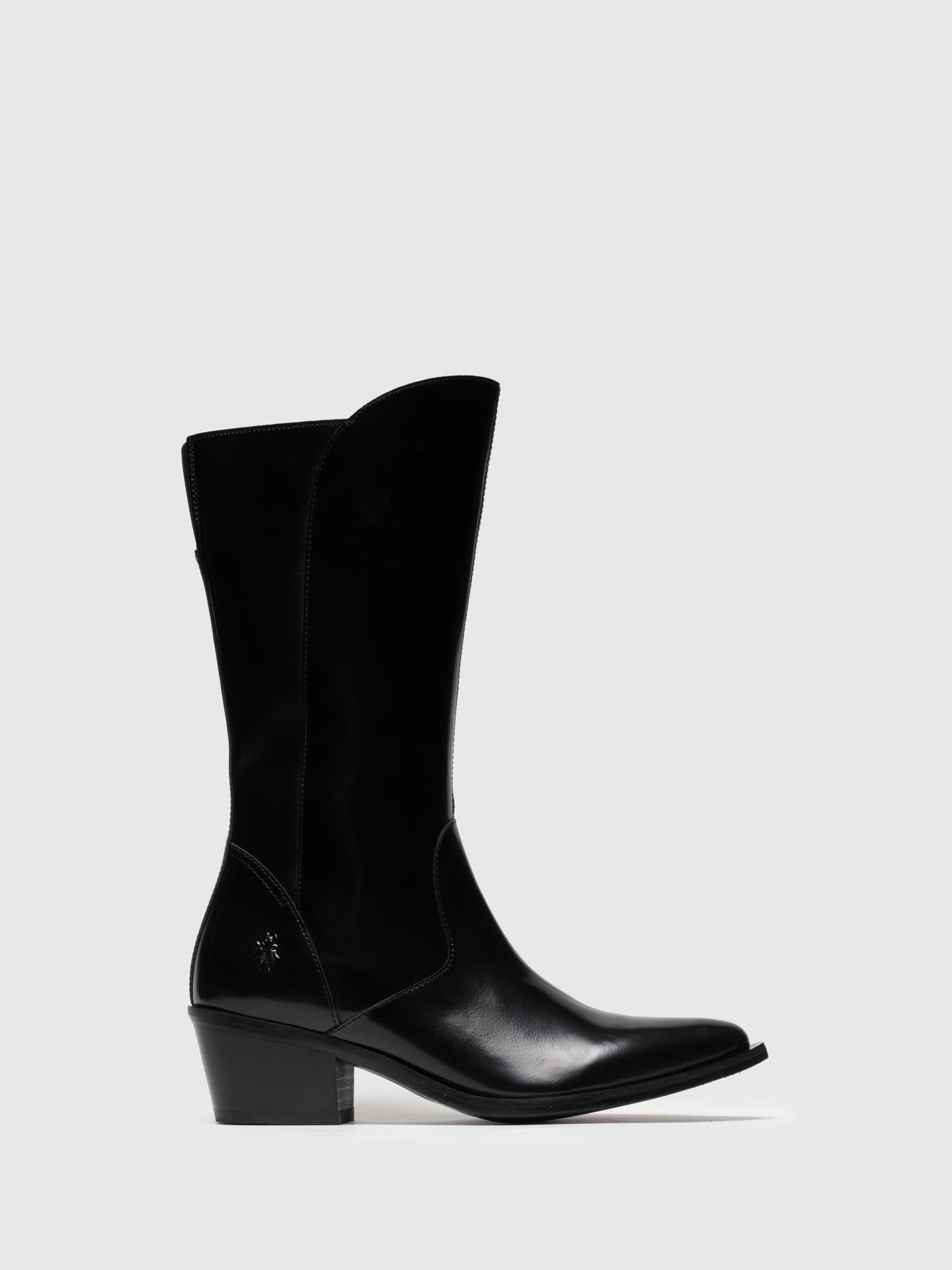 Fly London Coal Black Zip Up Boots