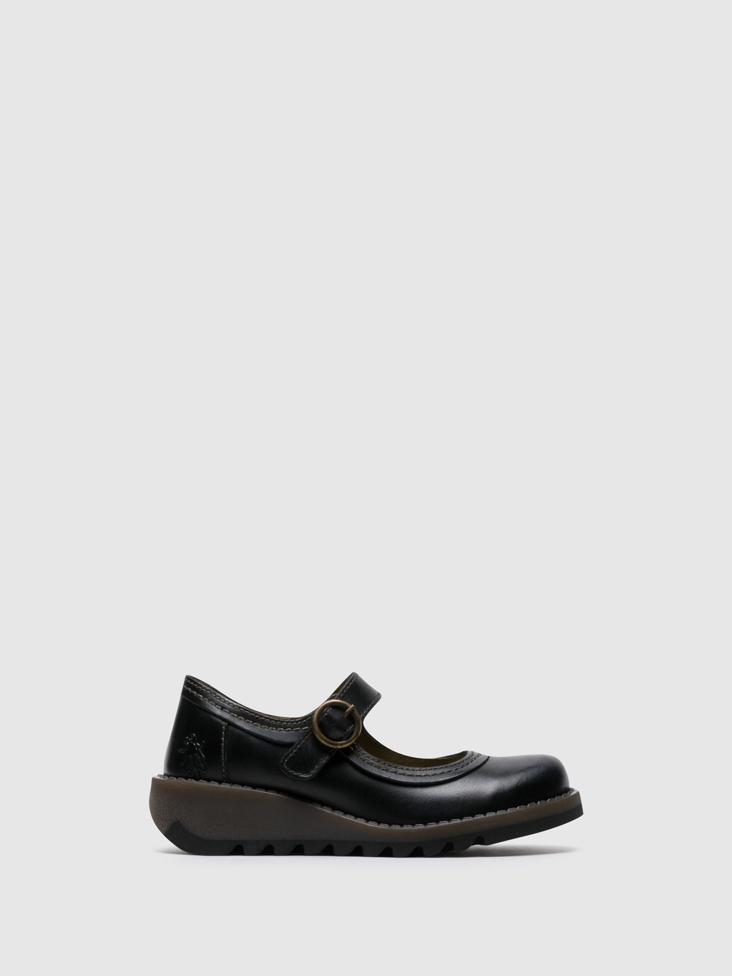 Fly London Gloss Black Monk