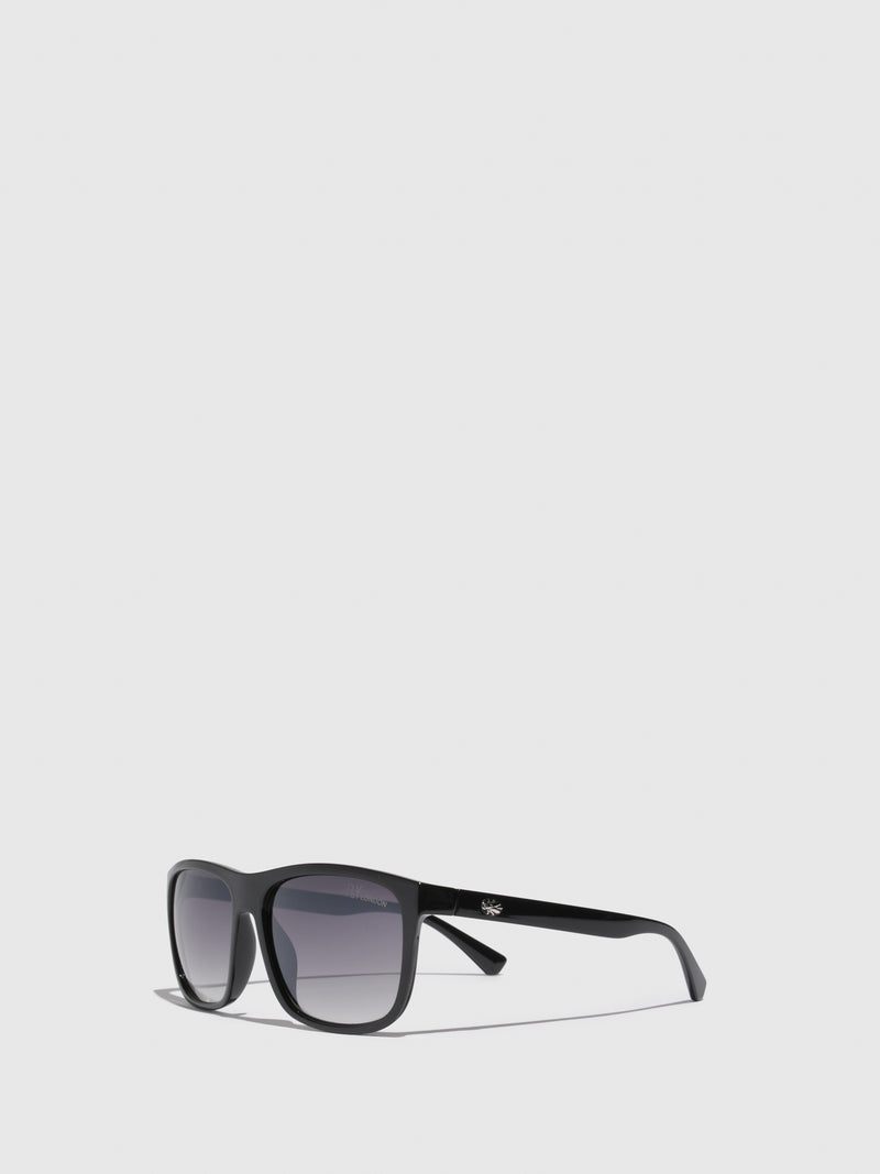 Fly London Black Rectangular Sunglasses