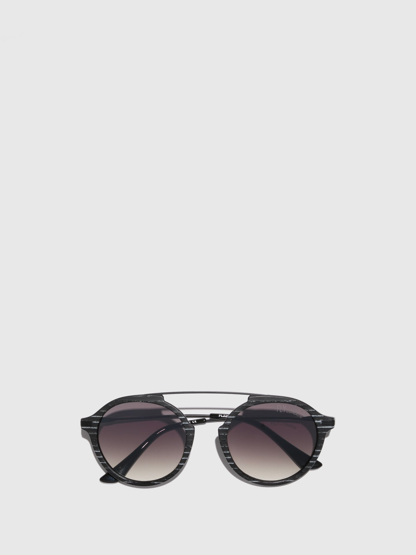 Fly London Black Aviator Sunglasses
