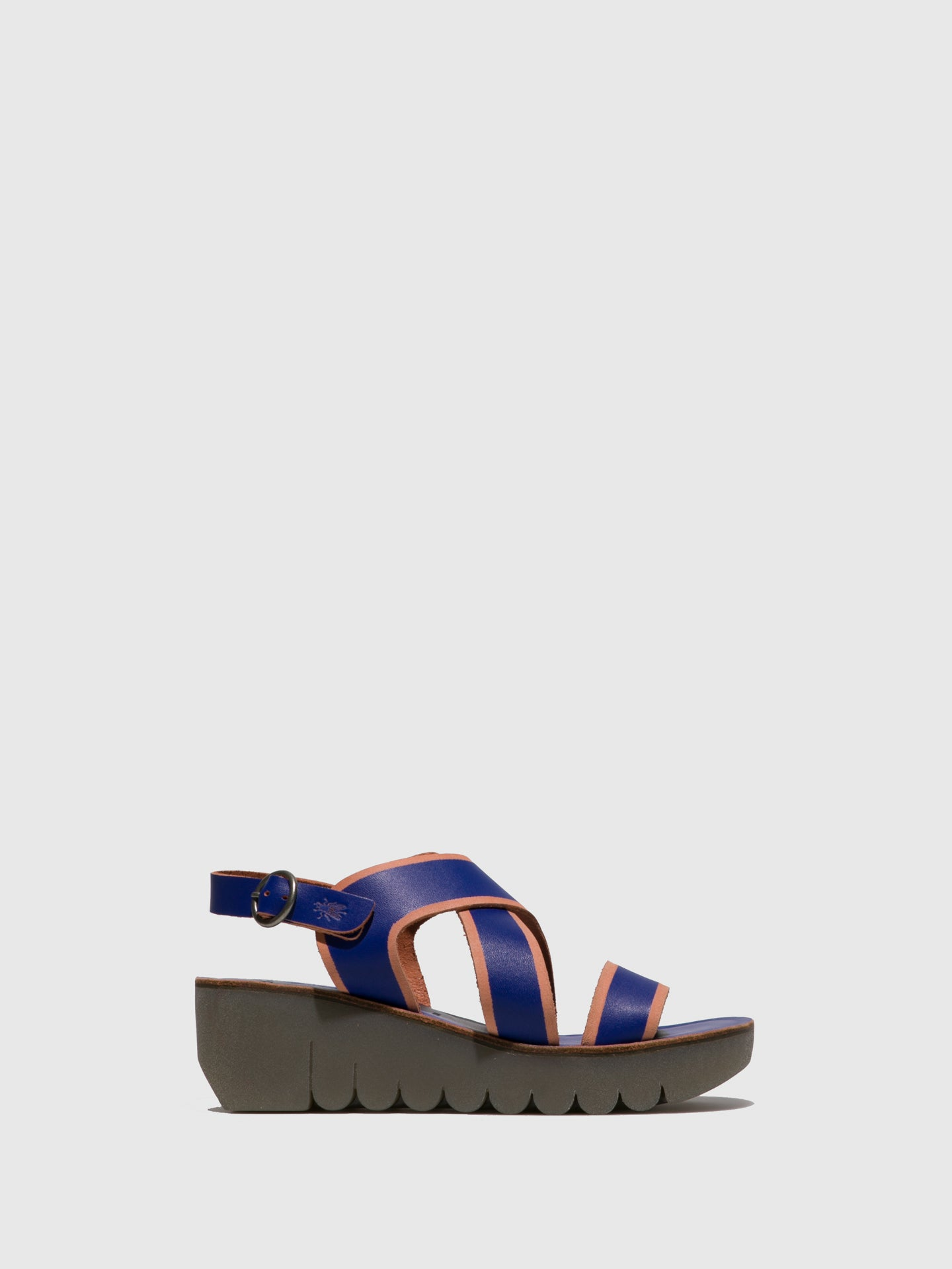 Fly London Blue Crossover Sandals