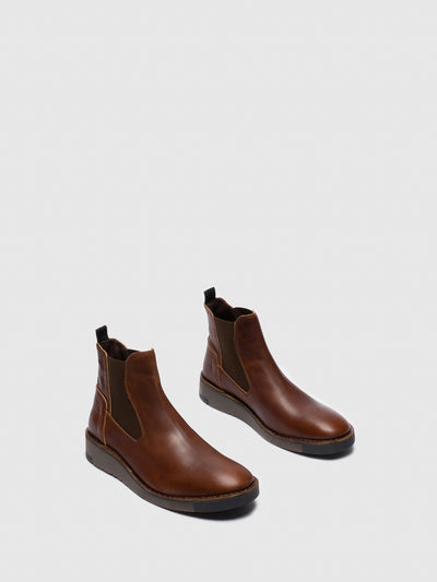 Fly London Chocolate Chelsea Ankle Boots
