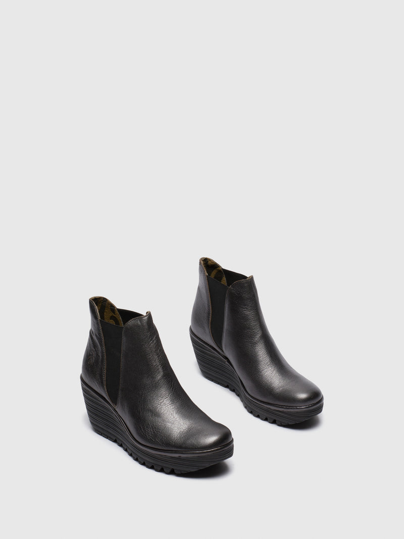 DarkGray Chelsea Ankle Boots