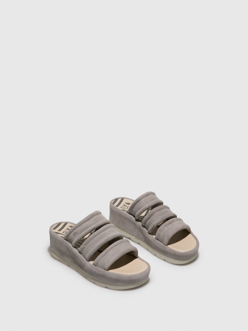 LightGray Open Toe Mules