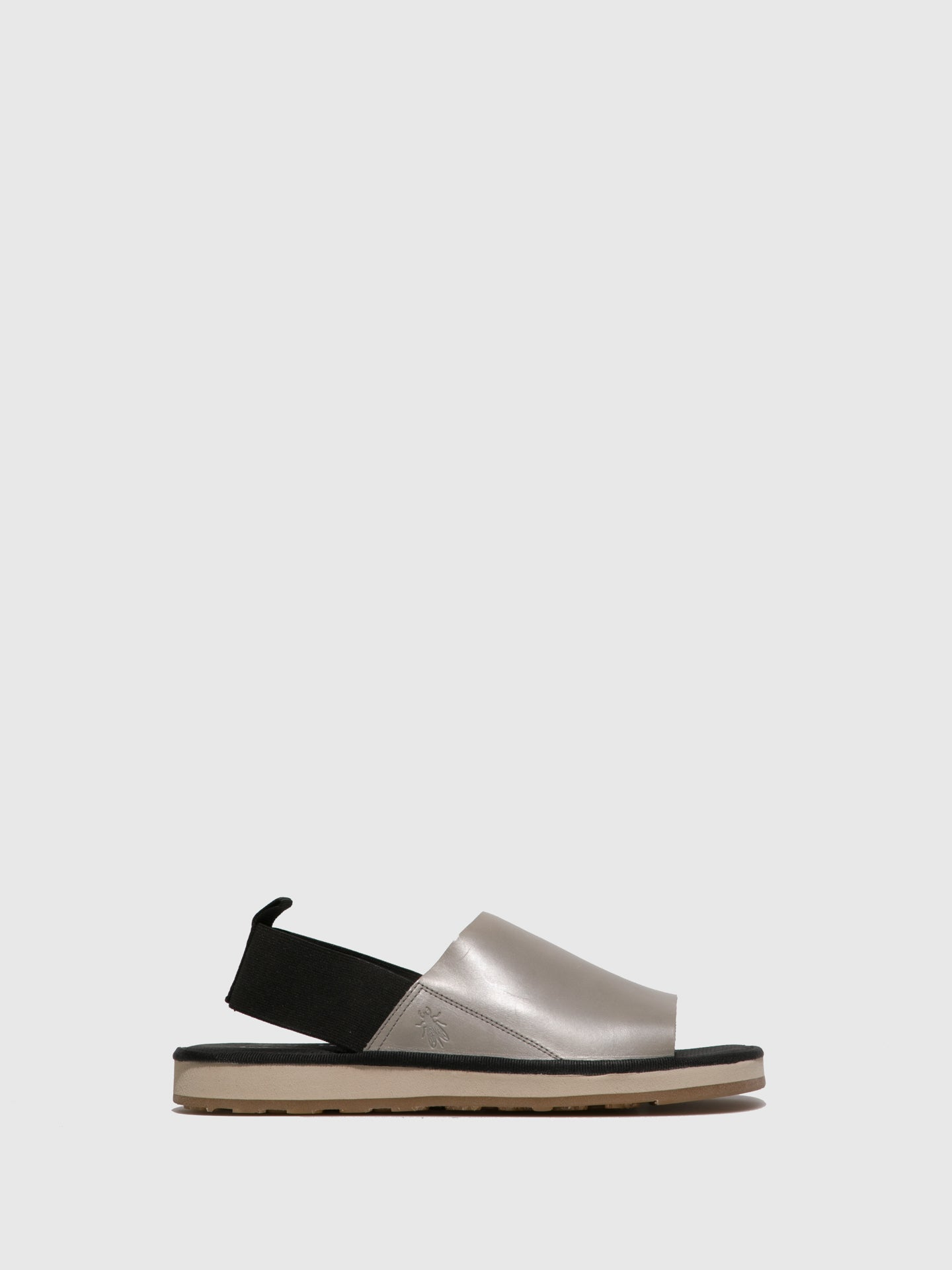 Fly London Gray Open Toe Sandals