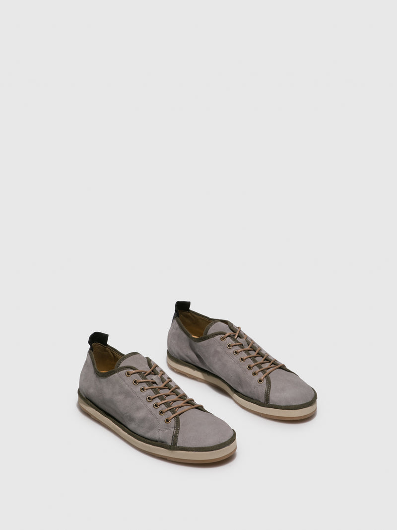 LightGray Lace-up Shoes