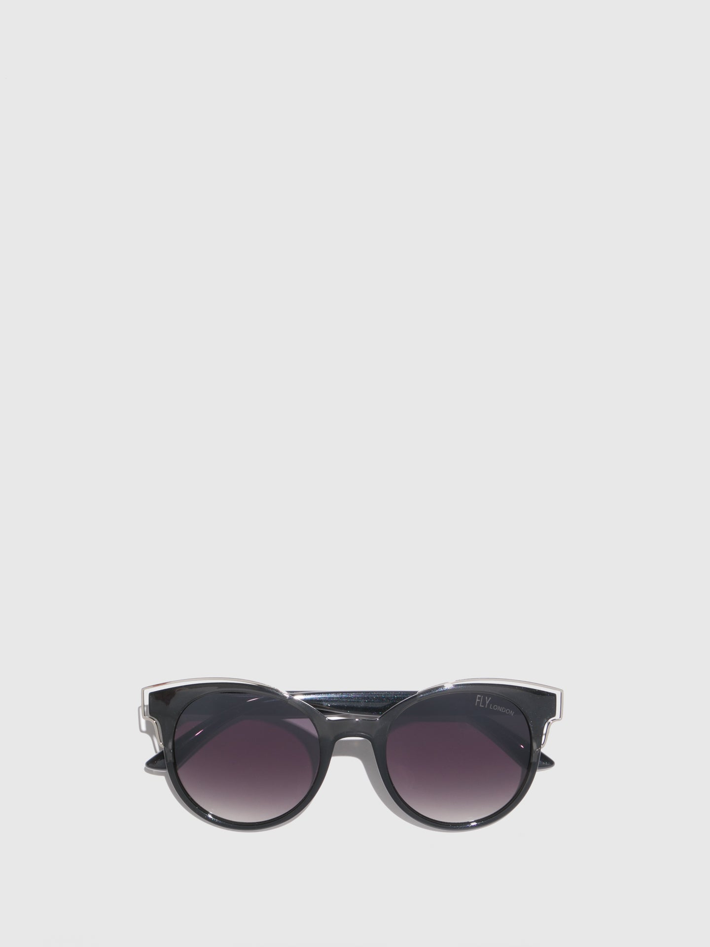 Fly London Gray Clubmaster Style Sunglasses