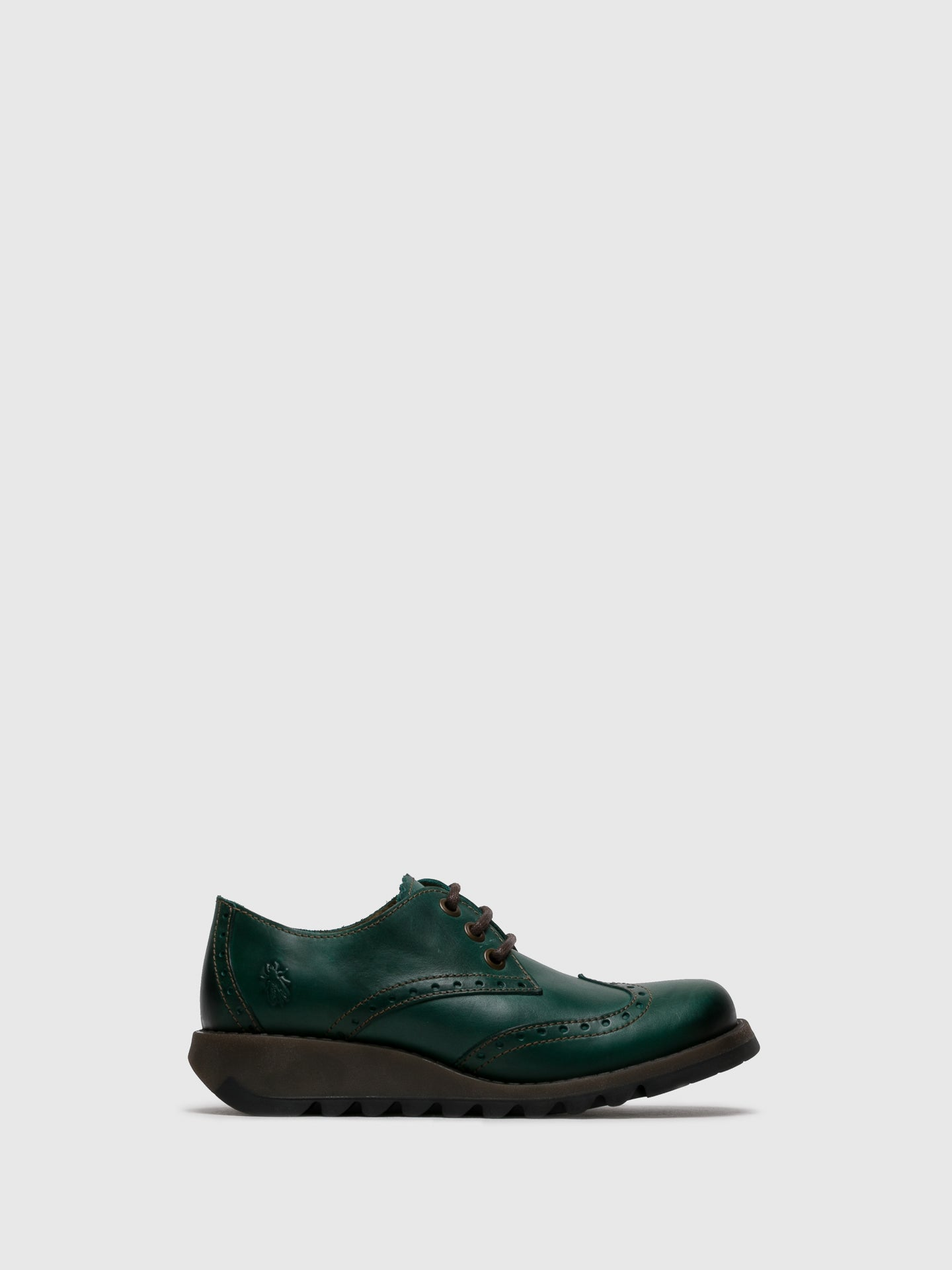 Fly London Green Leather Lace-up Shoes