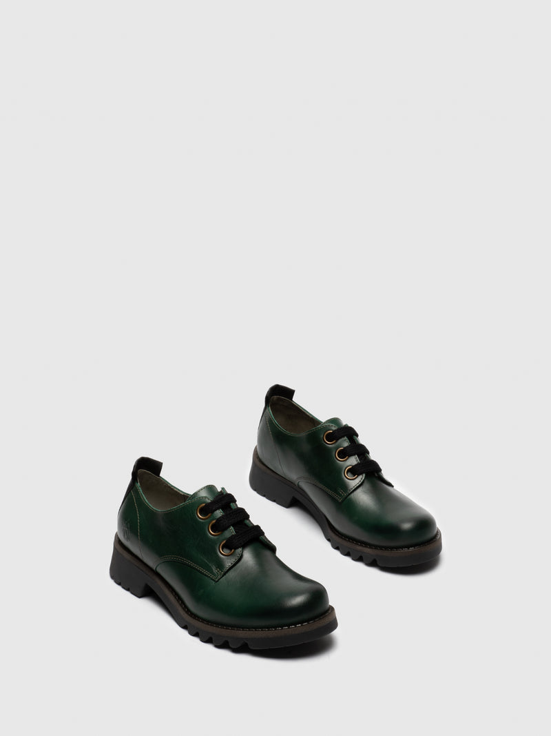 Green Lace-up Shoes