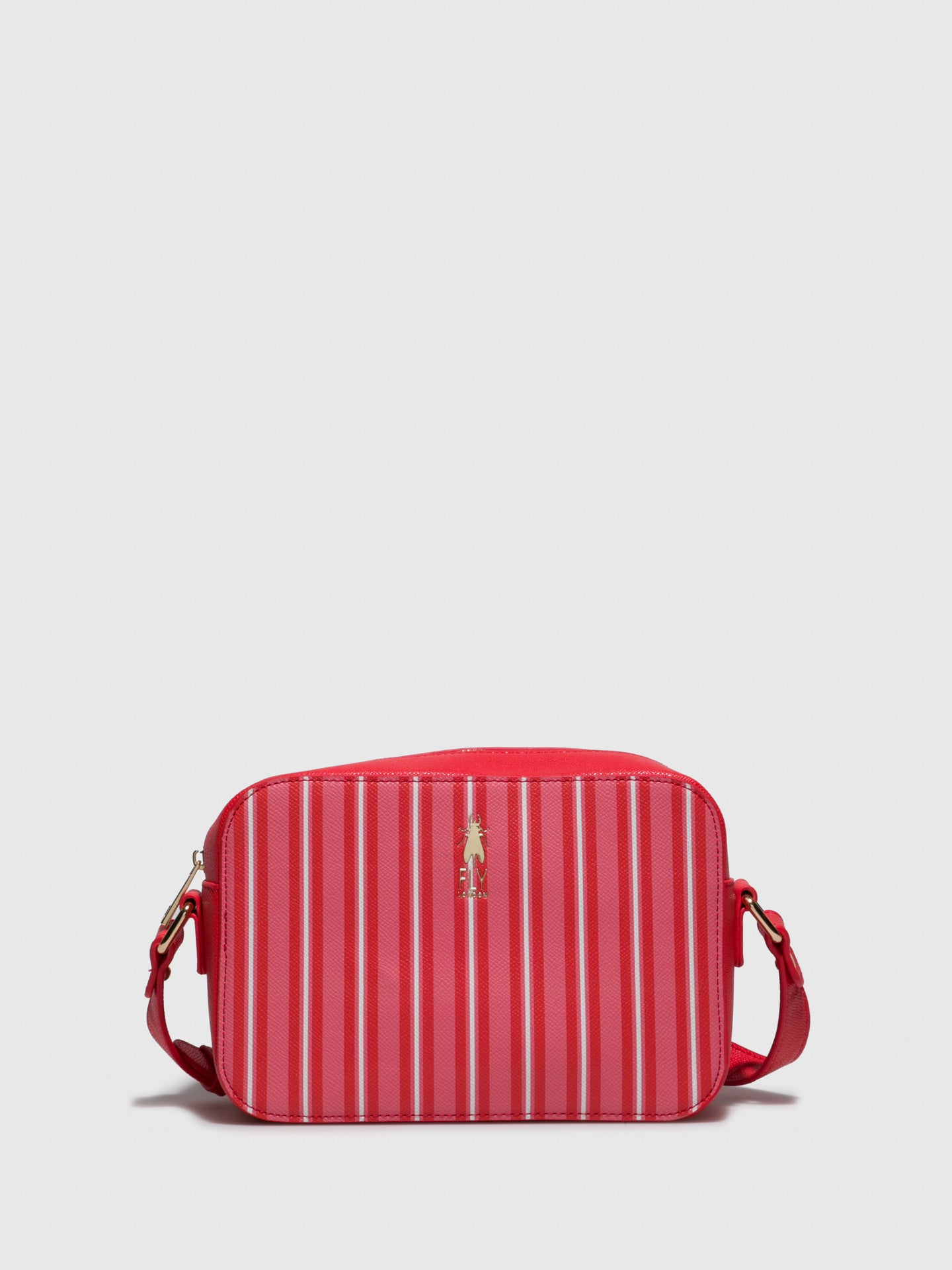 Fly London Red White Crossbody Bag