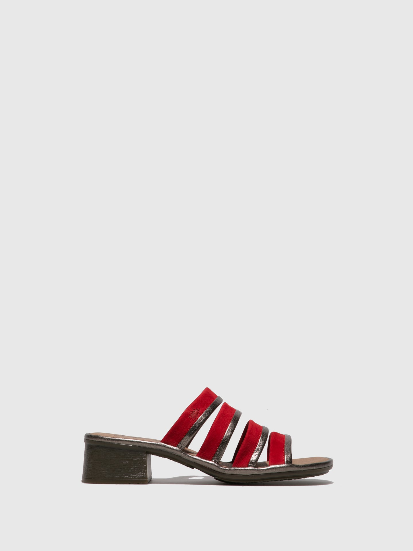 Fly London Multicolor Open Toe Mules
