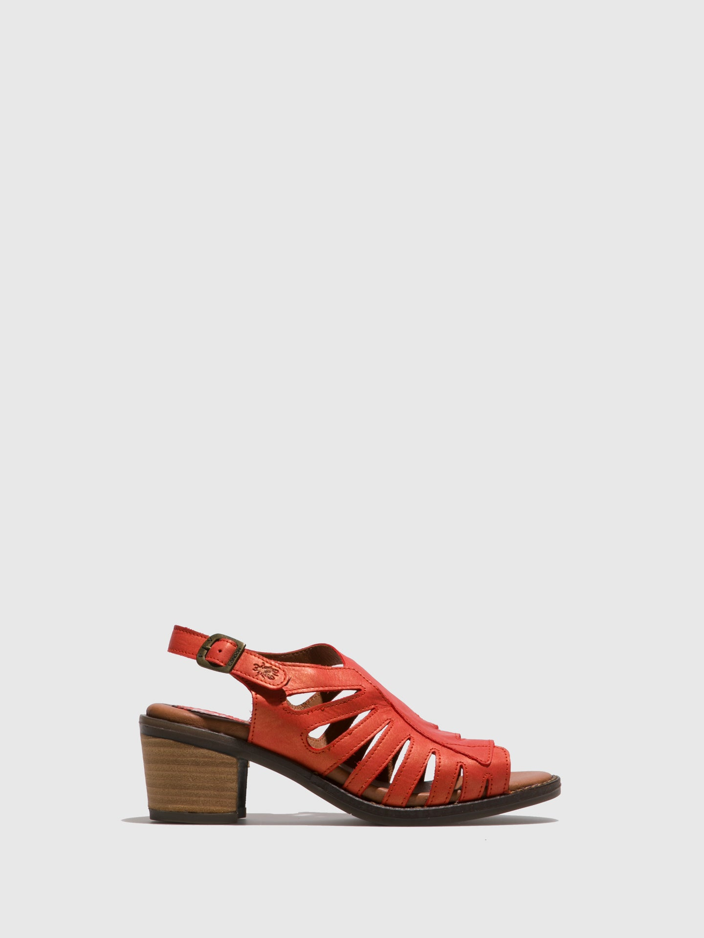 Fly London Orange Open Toe Sandals