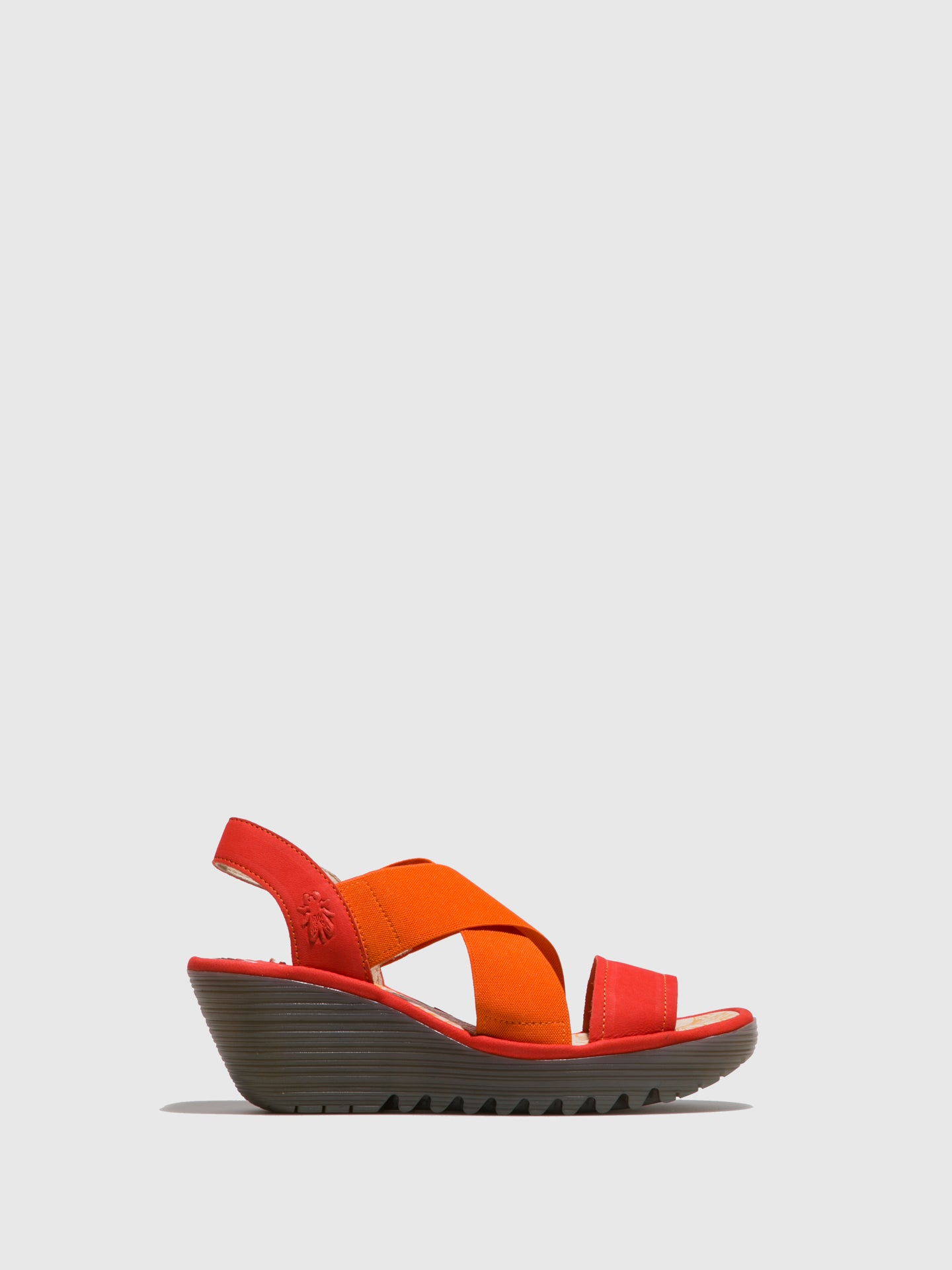 Fly London Orange Crossover Sandals