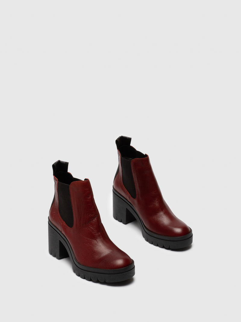 Red Chelsea Ankle Boots