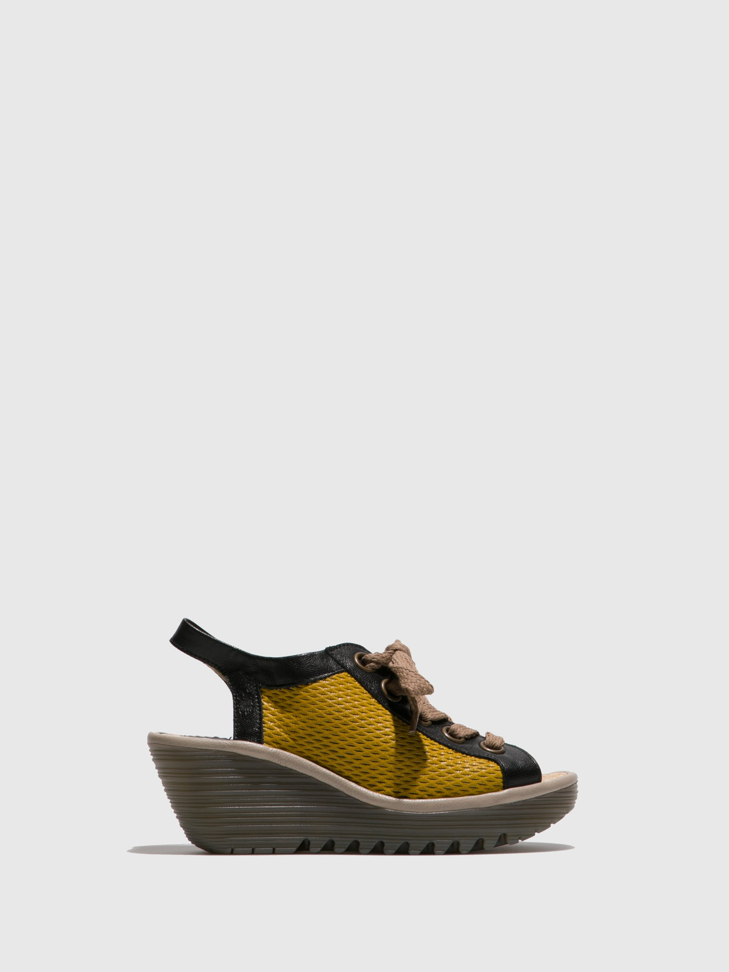 Fly London Yellow Lace-up Sandals