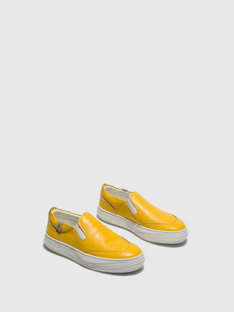 Fly London Yellow Slip-on Trainers