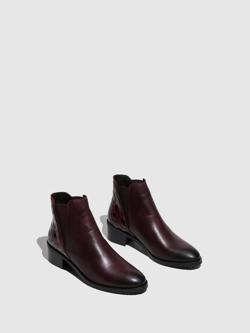 Crimson Elasticated Ankle Boots