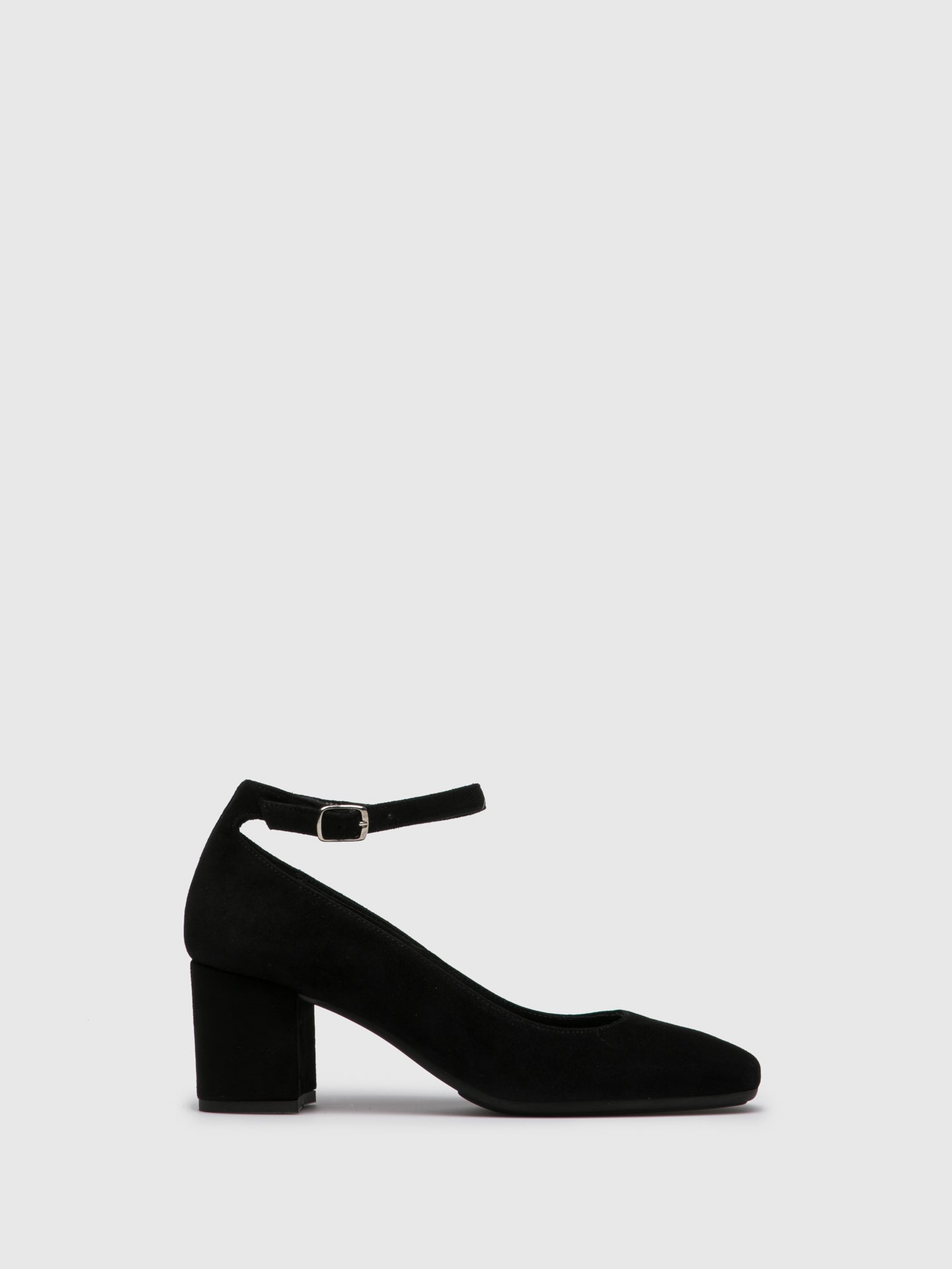 Foreva Black Ankle Strap Shoes