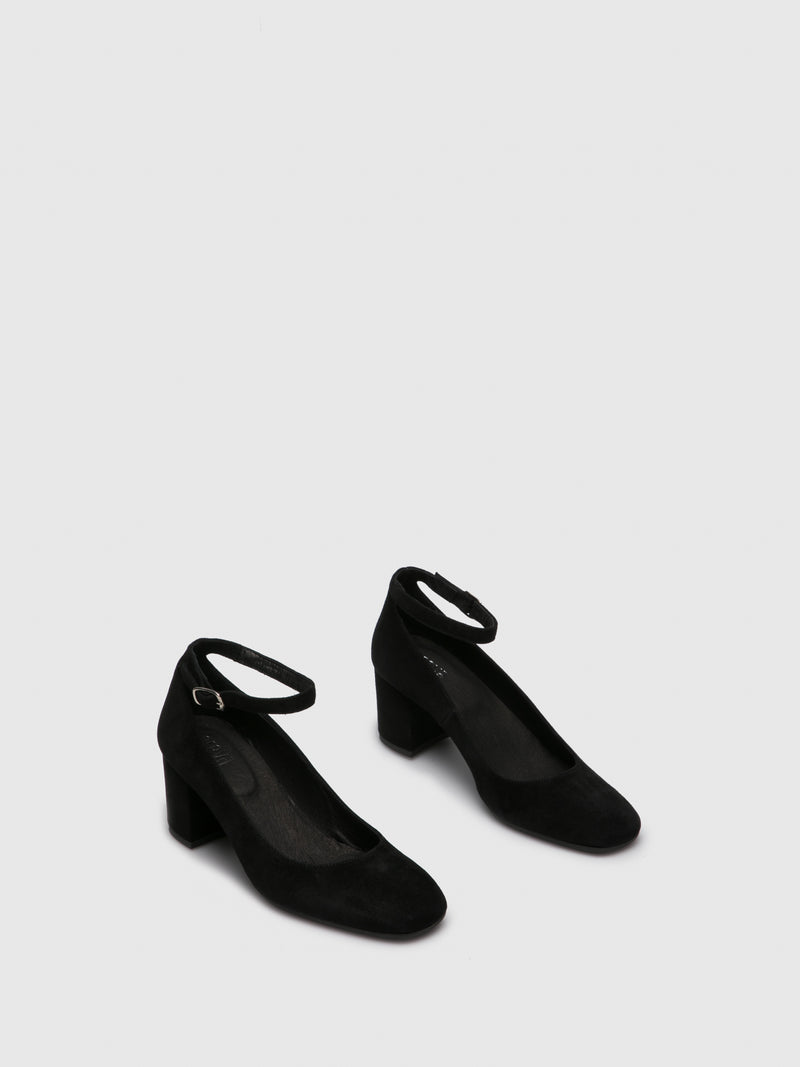 Black Ankle Strap Shoes
