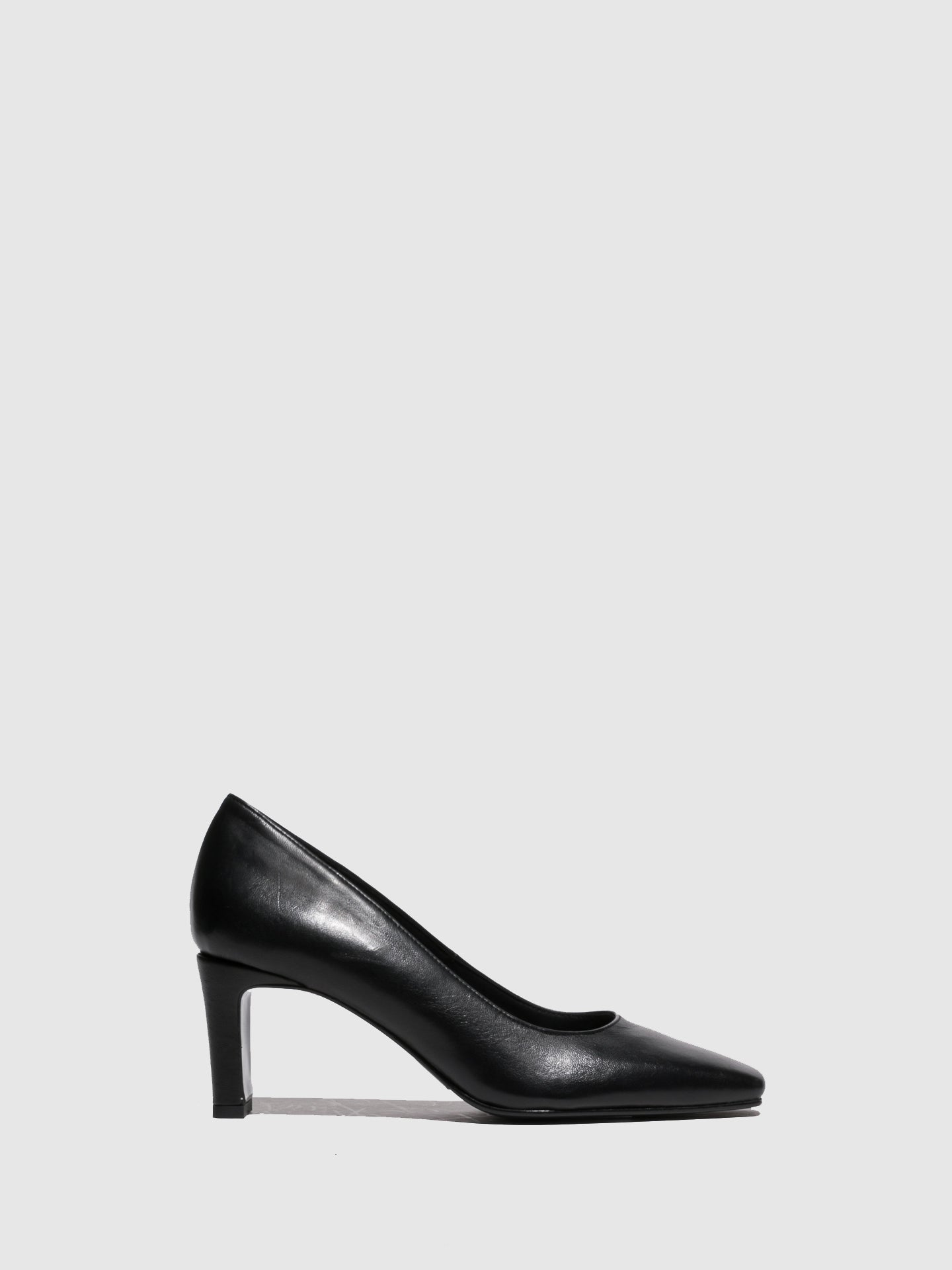 Foreva Black Chunky Heel Shoes