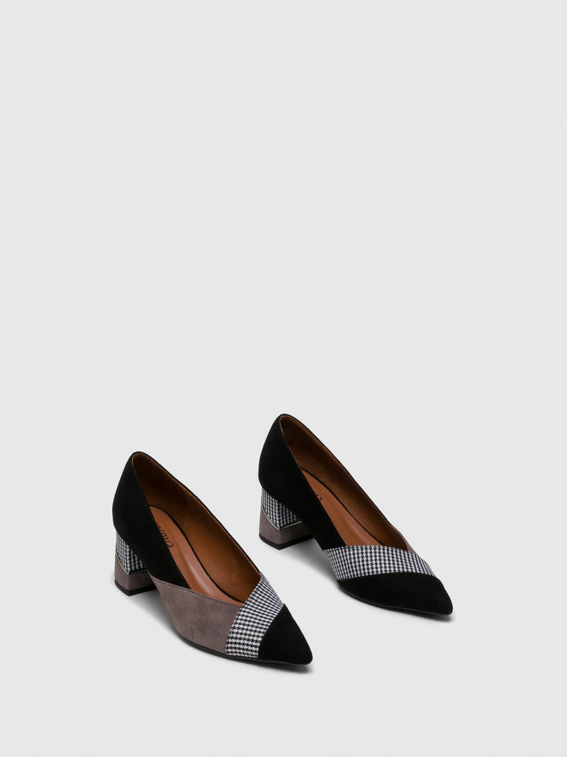Smoke Black Pointed Toe Shoes