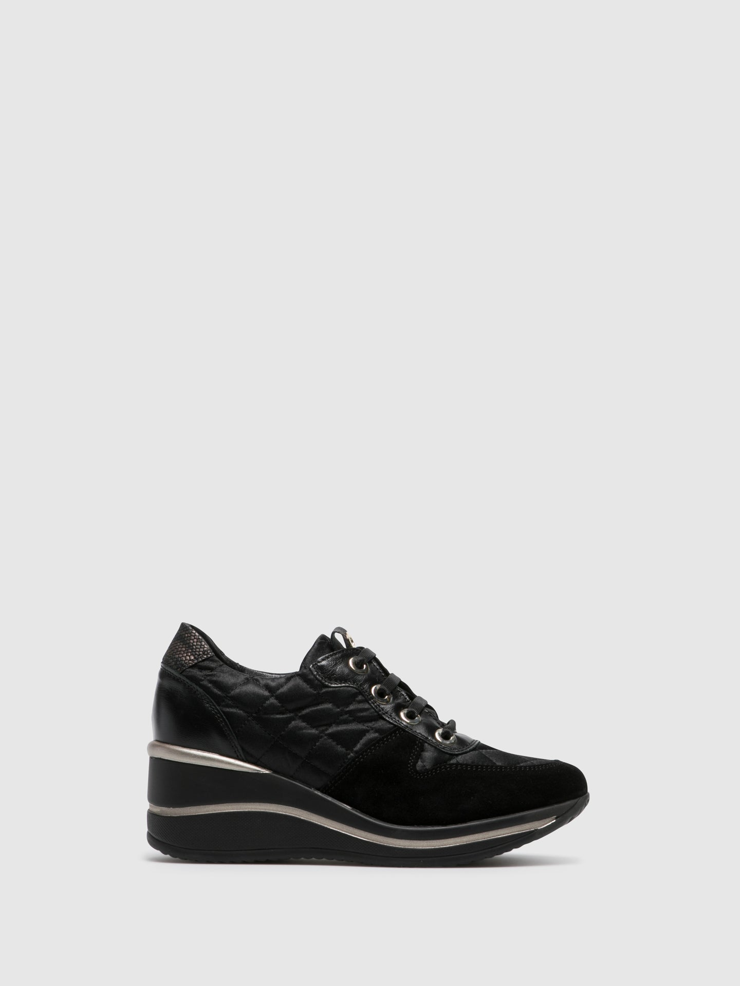 Foreva Black Wedge Trainers