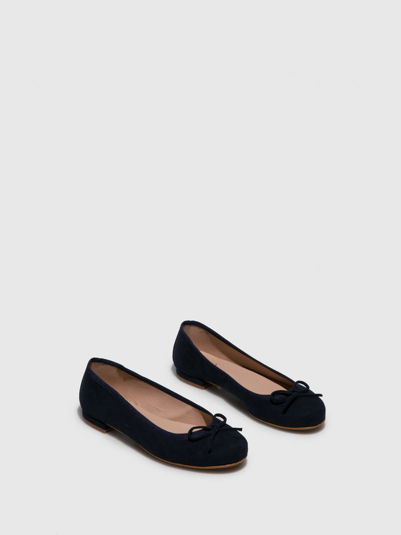 Navy Bow Ballerinas