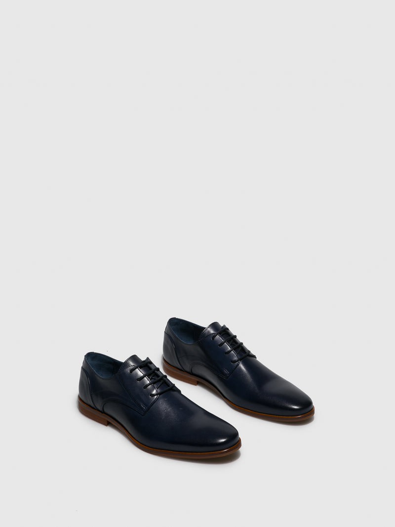 Navy Derby Shoes